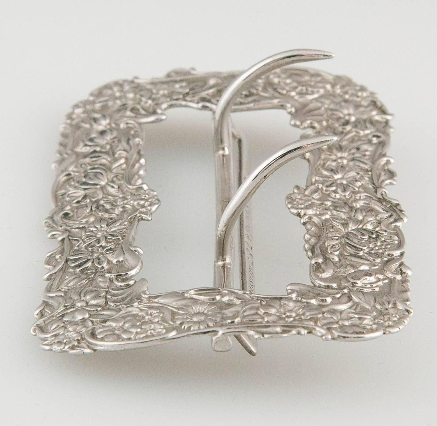 Tiffany Antique Victorian Sterling Belt Buckle For Sale at ...