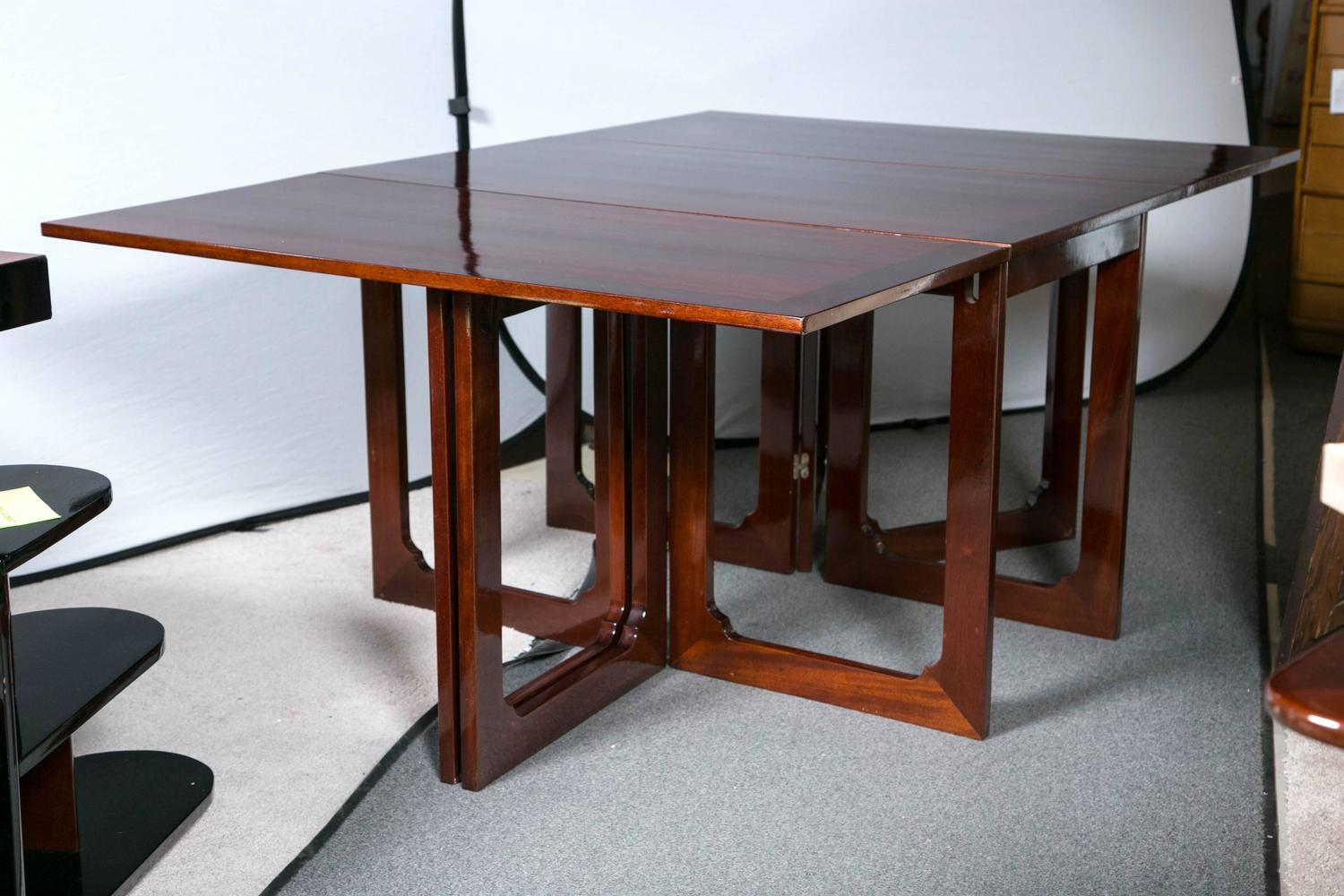 Dining table with drop leaf on both sides for sale at 1stdibs for 12 person dining table for sale
