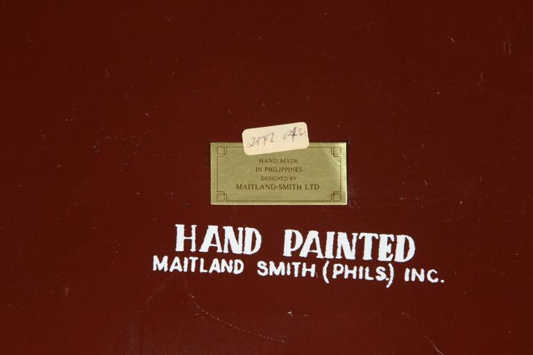 Hand-Painted Black Tray Coffee Table by Maitland-Smith In Excellent Condition For Sale In Los Angeles, CA