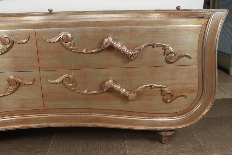 Extremely rare Rococo modern dresser by James Mont. 