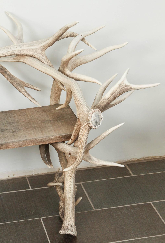 Magnificent Elk Antler Bench For Sale At 1stdibs