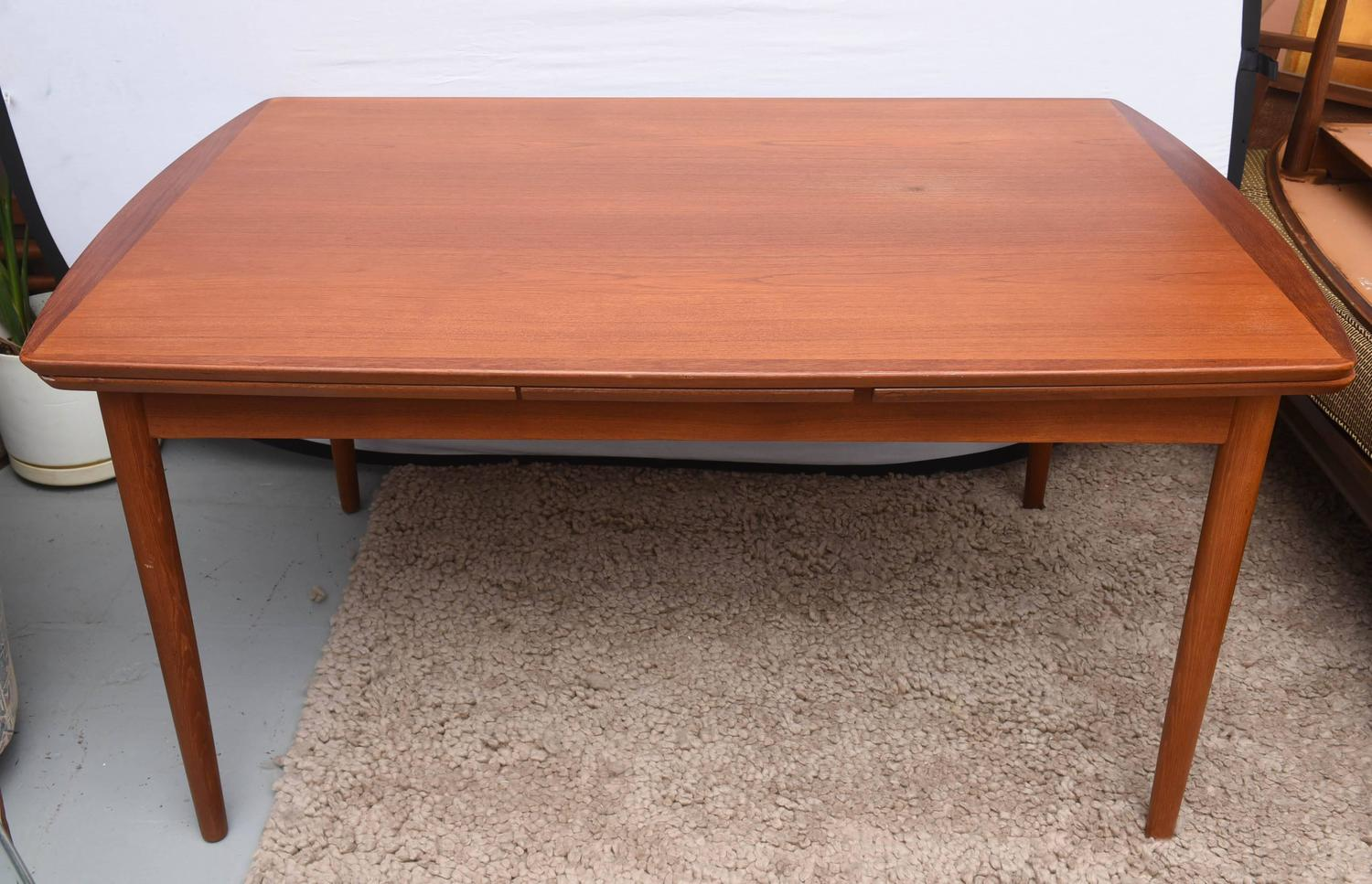 Povl Dinesen Teak Expandable Dining Table 1950s Denmark SATURDAY SALE For S