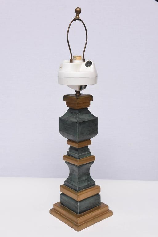 American Monumental Wooden Table Lamps, 1960s, USA For Sale