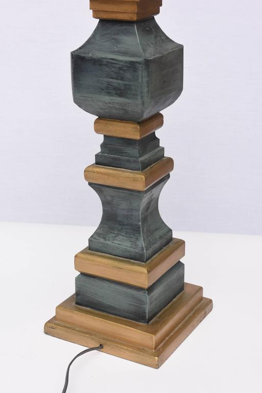 Monumental Wooden Table Lamps, 1960s, USA For Sale 1