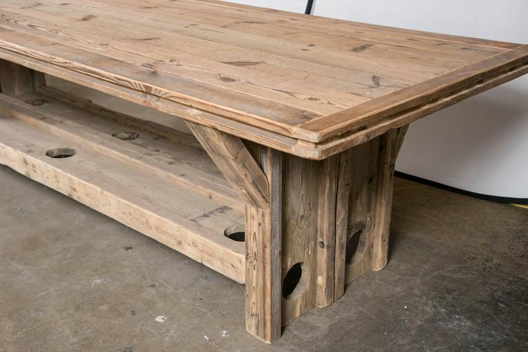 Trestle Base Harvest Table For Sale 1