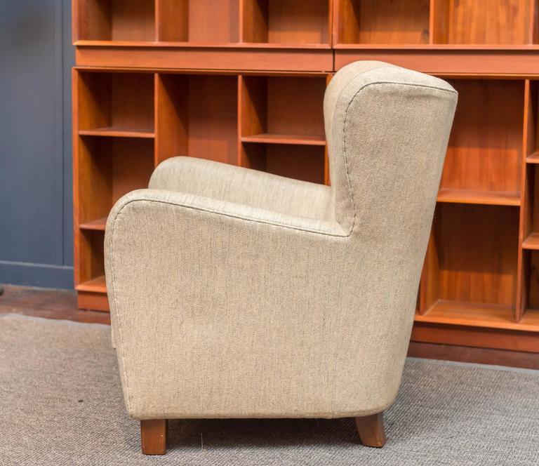 Danish Thorald Madsens Jr. Snedkeri Wing Chair For Sale
