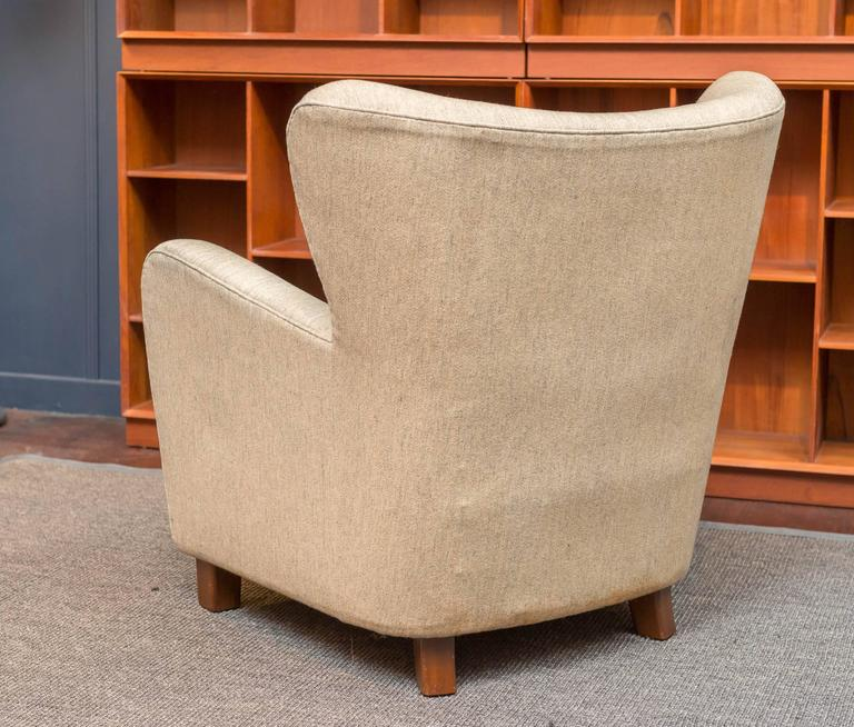 Thorald Madsens Jr. Snedkeri Wing Chair In Good Condition For Sale In San Francisco, CA