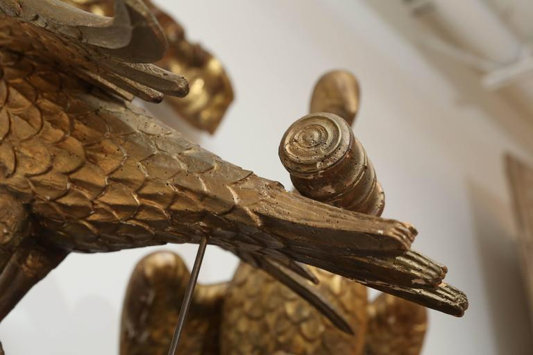 Baroque Pair of Early Book Stands Carved as Doves For Sale