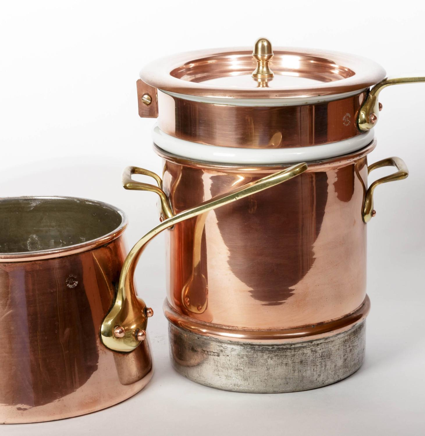 French Copper Steamer Double Boiler Quot Bain Marie Quot At 1stdibs