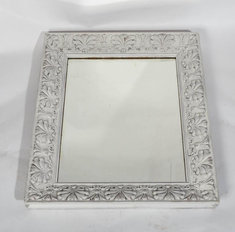 Empire Style Distressed Pale Grey Frame With Antique