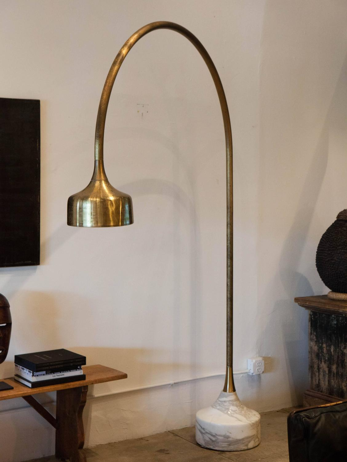 luciano frigerio arc floor lamp italy 1970 for sale at 1stdibs. Black Bedroom Furniture Sets. Home Design Ideas