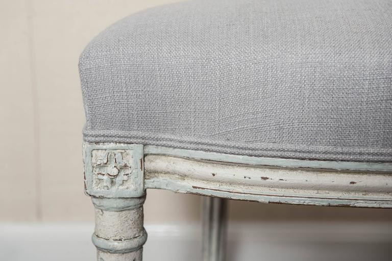 Set of Six Fully Restored French Louis XVI / Seize Style Dining Chairs For Sale 2