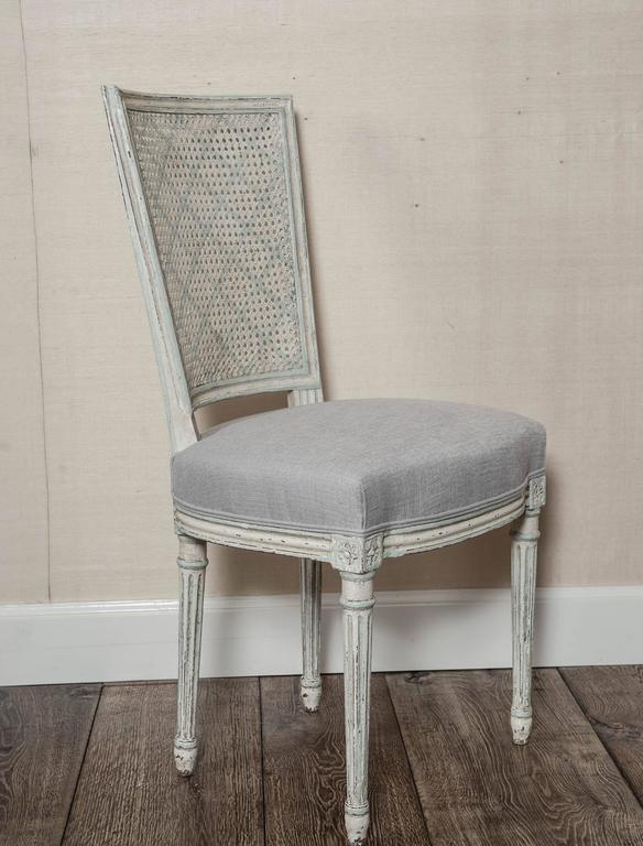Set of Six Fully Restored French Louis XVI / Seize Style Dining Chairs For Sale 4