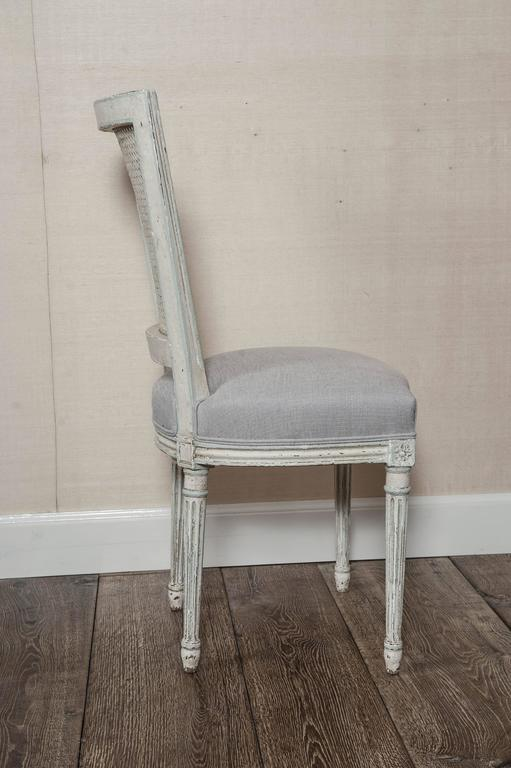 Set of Six Fully Restored French Louis XVI / Seize Style Dining Chairs For Sale 6