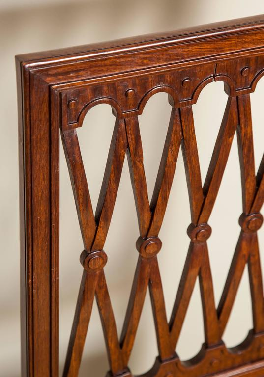 Carved Set of Six Louis XVI Style Mahogany Side Chairs For Sale