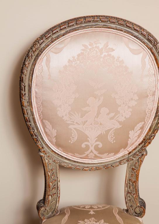 A Louis XVI style 'Boudoir' chair.