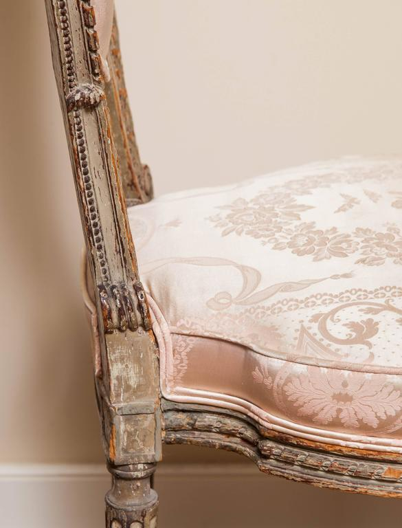 Louis XVI Style Side Chair, 19th Century In Fair Condition For Sale In New York, NY