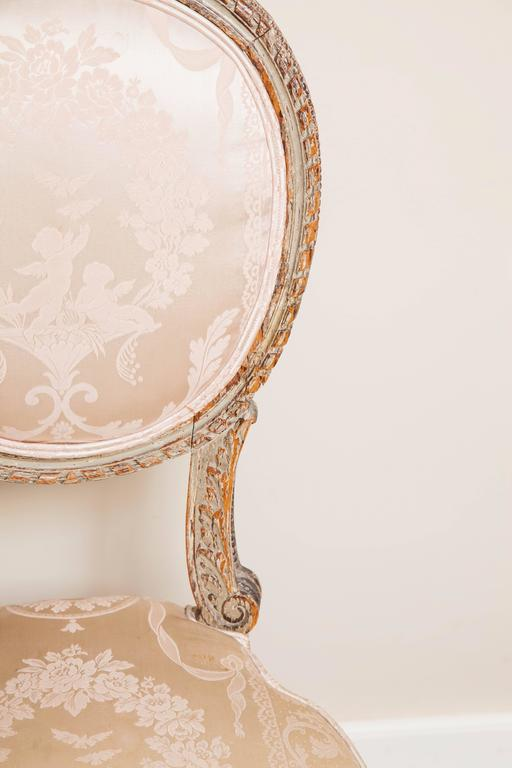 Louis XVI Style Side Chair, 19th Century For Sale 3
