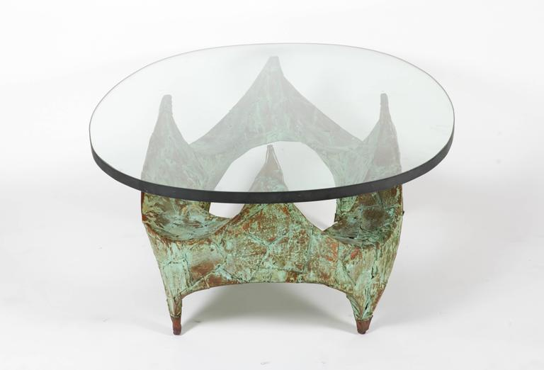 Paul Evans Hand-Hammered and Patinated Copper Studio Coffee Table, USA, 1960s In Good Condition For Sale In New York, NY
