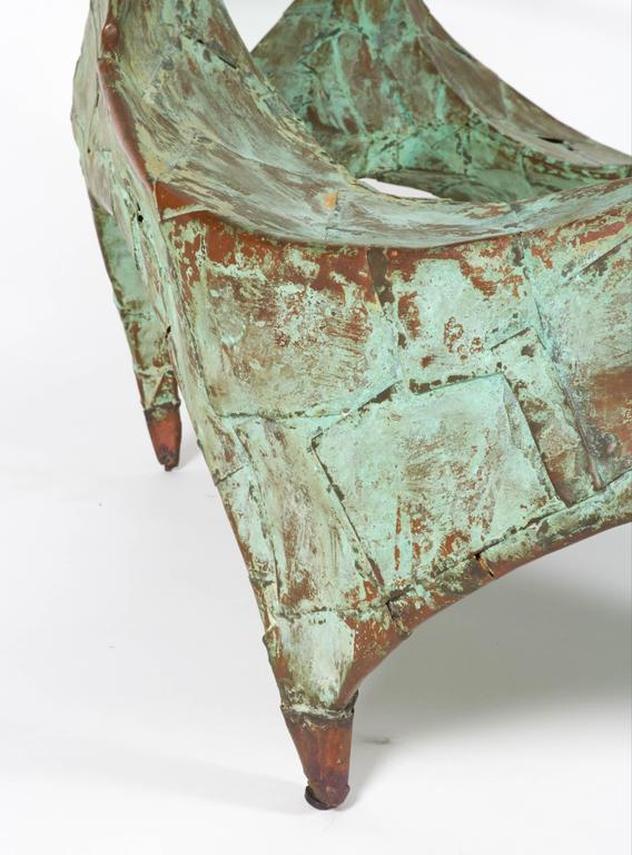 Mid-20th Century Paul Evans Hand-Hammered and Patinated Copper Studio Coffee Table, USA, 1960s For Sale