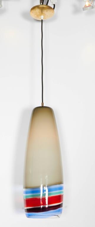 Mid-Century Modern Massimo Vignelli Venini Pendant, 1950s For Sale