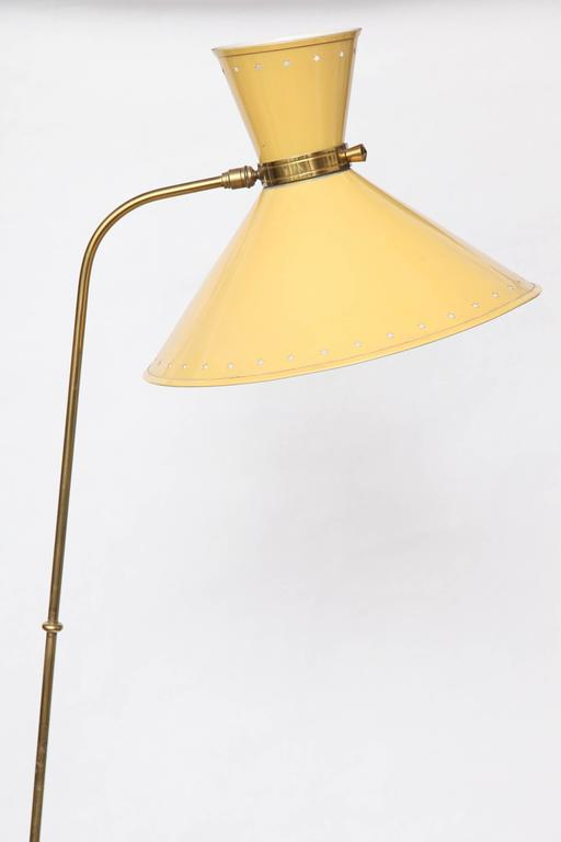 1950s French Articulated Floor Lamp by Boris Lacroix In Excellent Condition For Sale In New York, NY