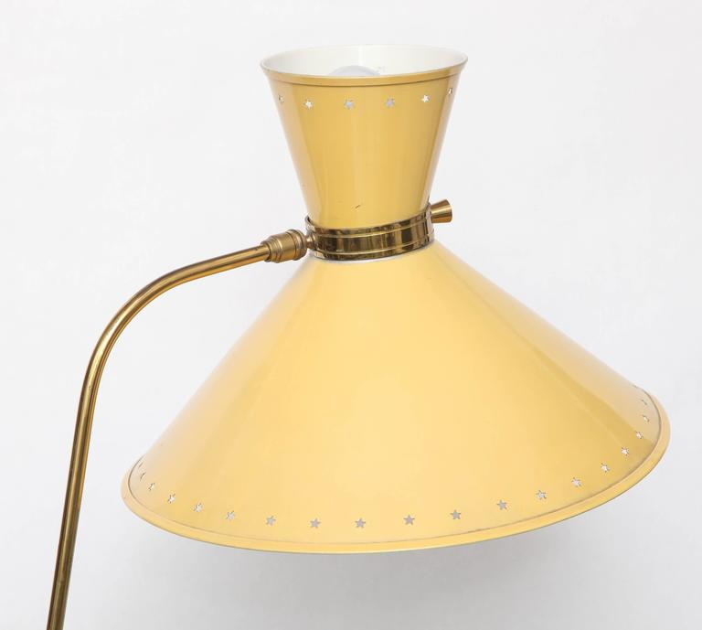 1950s French Articulated Floor Lamp by Boris Lacroix For Sale 2