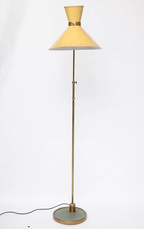 1950s French Articulated Floor Lamp by Boris Lacroix For Sale 4