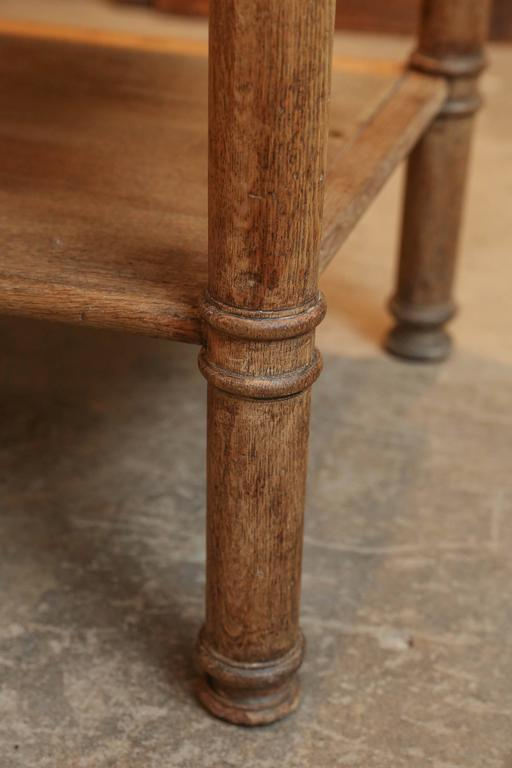 19th Century Three-Tiered Serving Table or Kitchen Island in Bleached Oak 5
