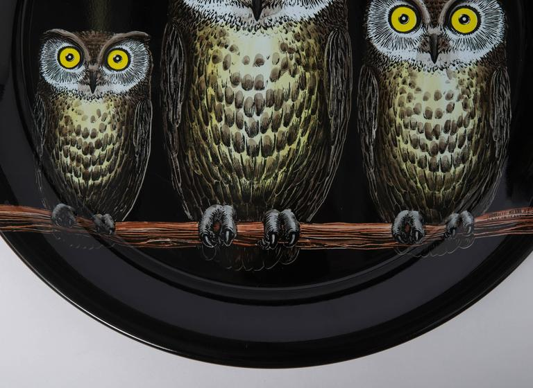 Contemporary Atelier Fornasetti metal serving tray