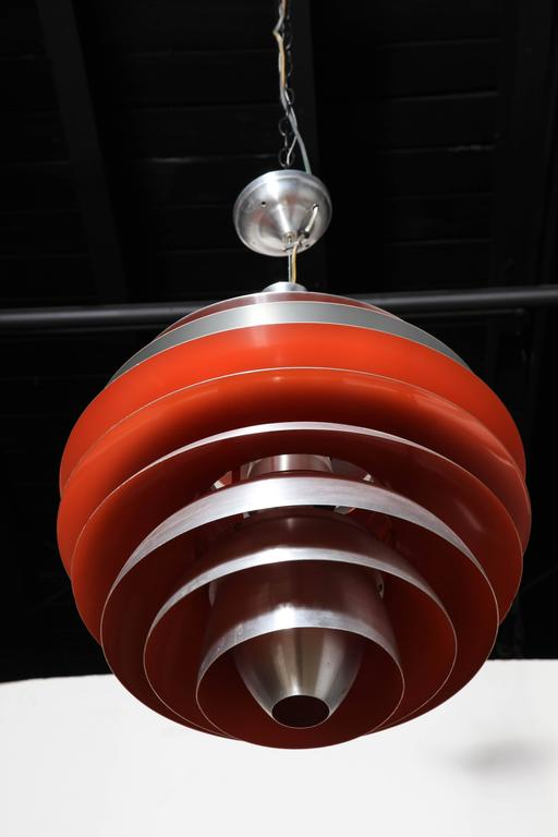 Poul Henningsen for Louis Poulsen Aluminum & Red Orange
