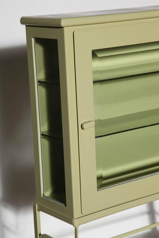 edwardian celery enameled etagere with enclosed storage. Black Bedroom Furniture Sets. Home Design Ideas