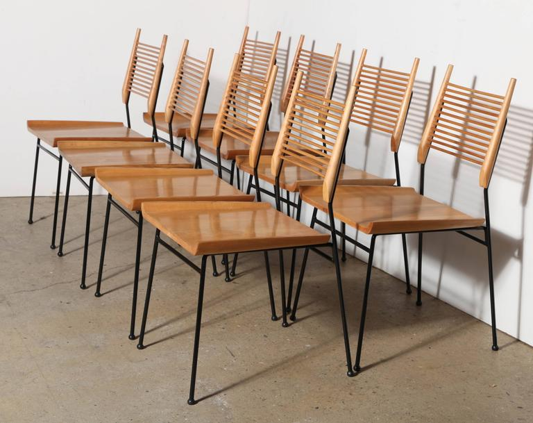1950s Set Of Eight Of Paul McCobb For Winchendon Furniture Company Ladder  Side Chairs. Featuring
