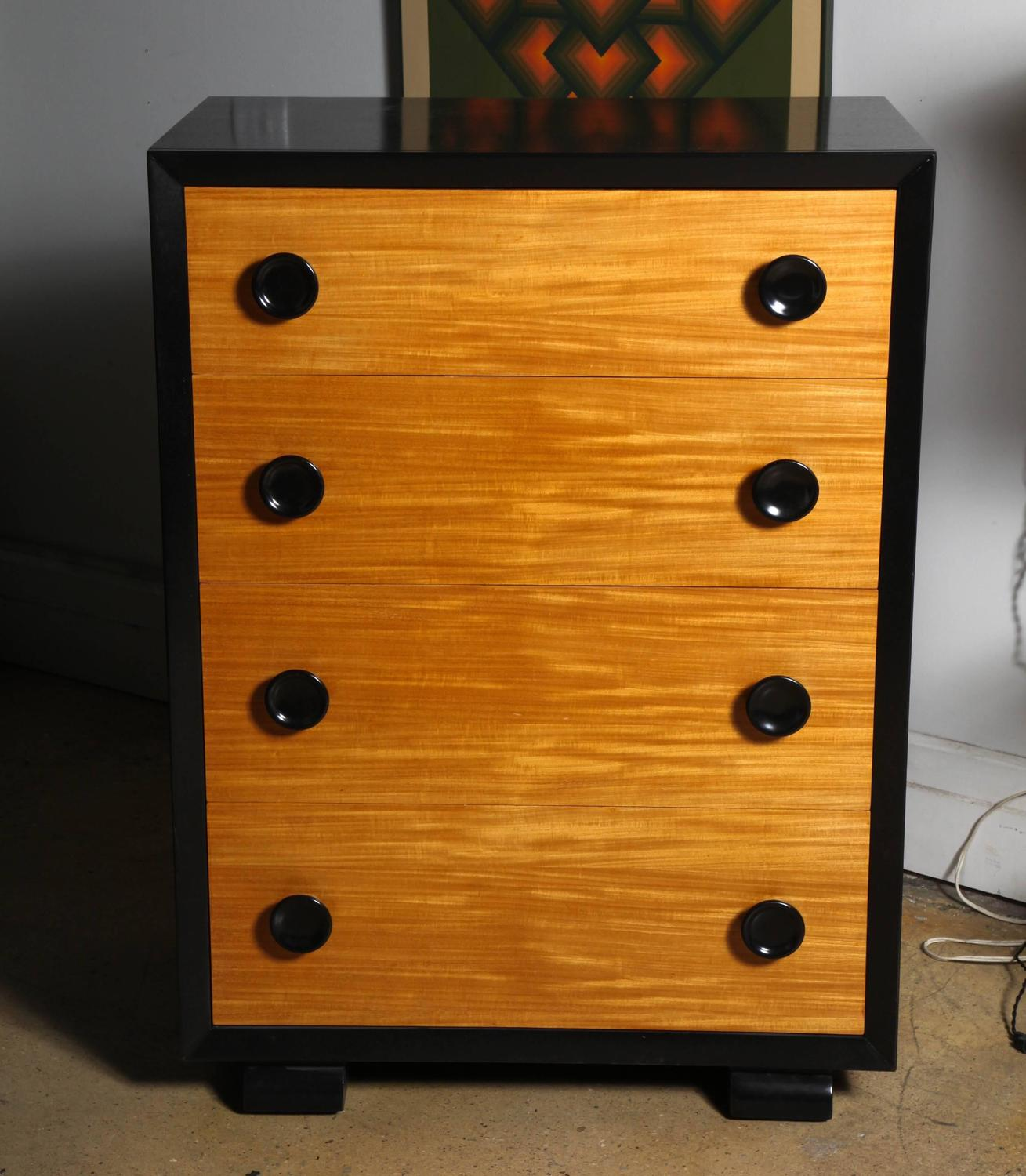 #AE4D03 Tall Americraft Art Deco Mahogany And Black Ebonized Mahogany Dresser  with 1309x1500 px of Recommended Tall Black Dressers 15001309 save image @ avoidforclosure.info