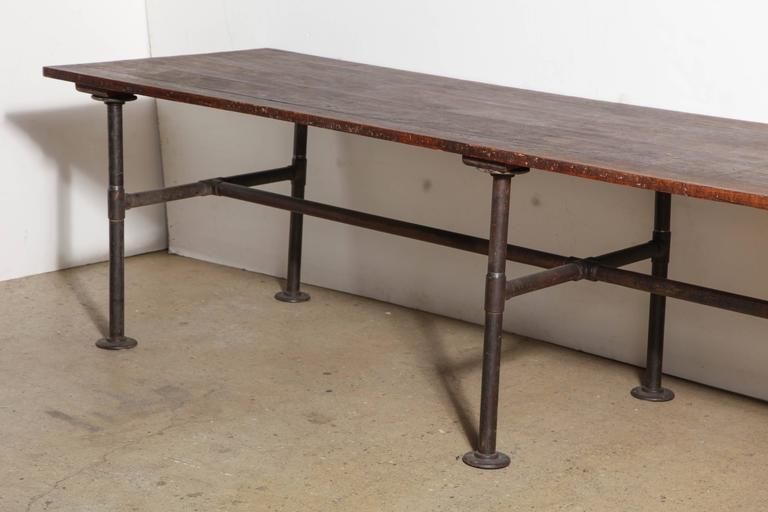 Monumental 19th Century Ten Foot Solid Black Walnut And