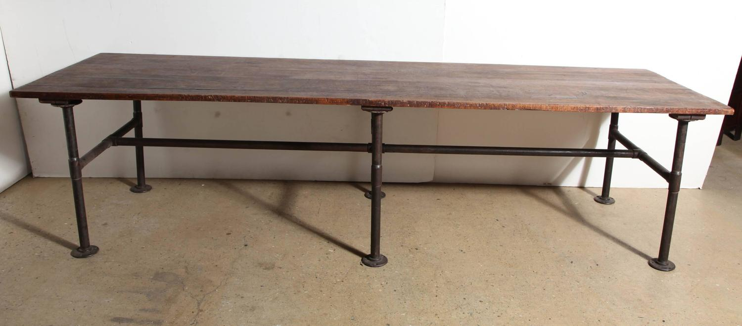 19th century 10 39 foot long solid black walnut table for for 5 foot dining room table