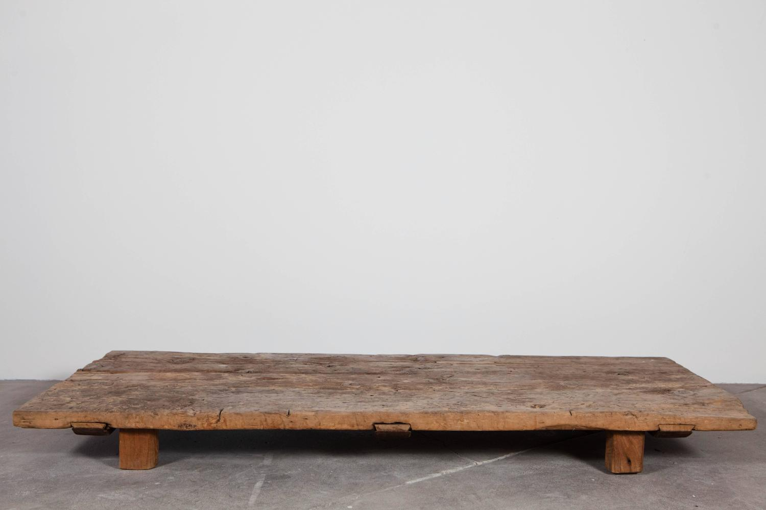 Very Low Distressed Coffee Table at 1stdibs
