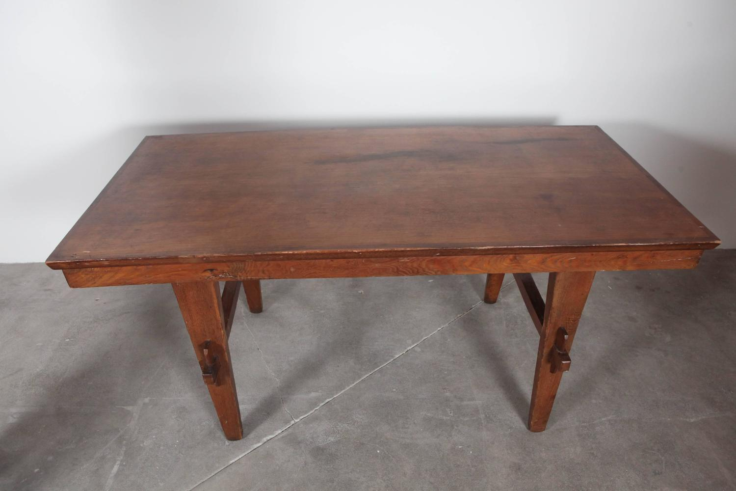 Italian Dining Table With Peg Hold Legs For Sale At 1stdibs