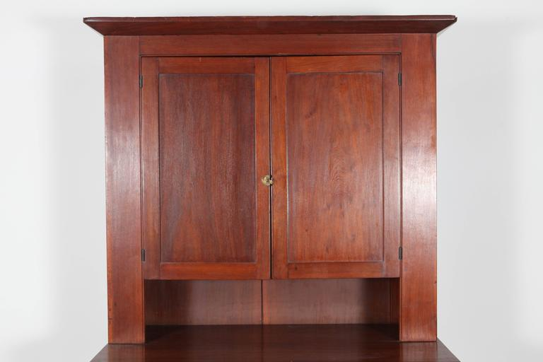 Cherry Wood Cabinet and Hutch 2