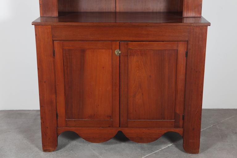 Cherry Wood Cabinet and Hutch 4