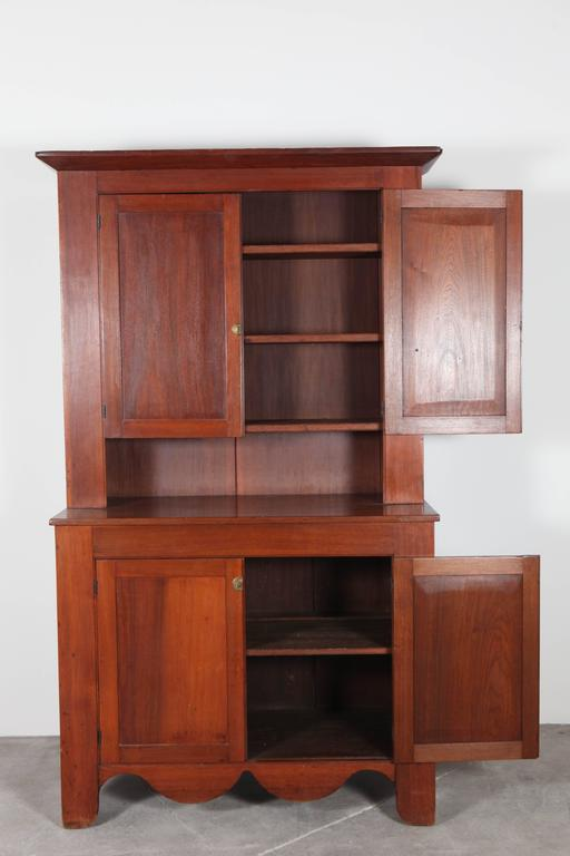 Cherry Wood Cabinet and Hutch 5