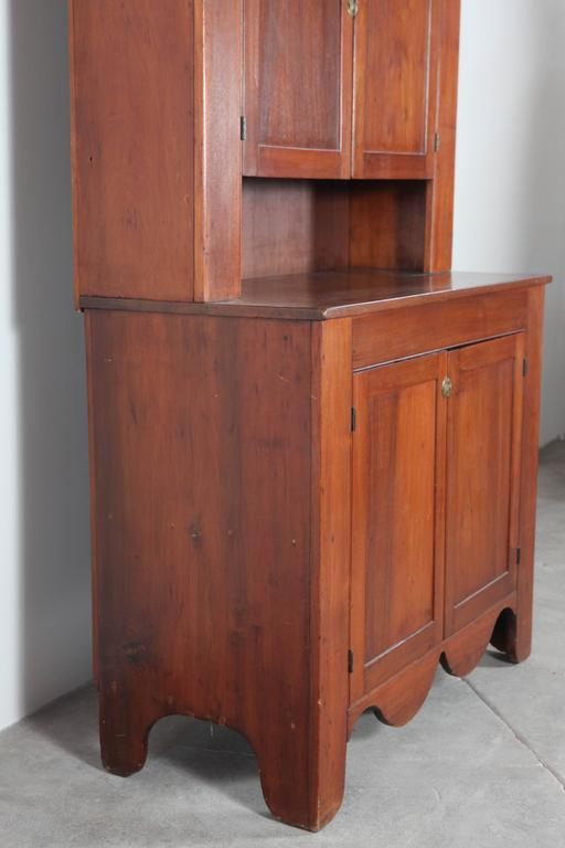 Cherry Wood Cabinet and Hutch 7