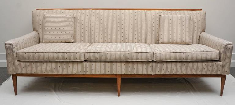 1950s Midcentury Paul Mccobb Wood Trim Sofa