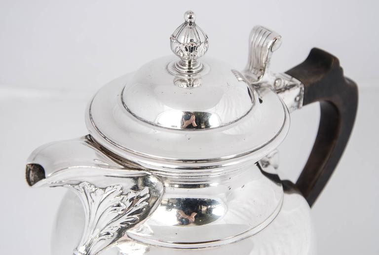 English Silver Plate Beer Jug For Sale