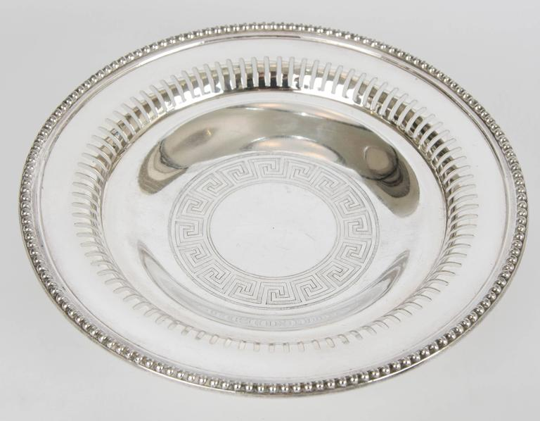 Silver Plate Wine Coasters In Good Condition For Sale In London, GB