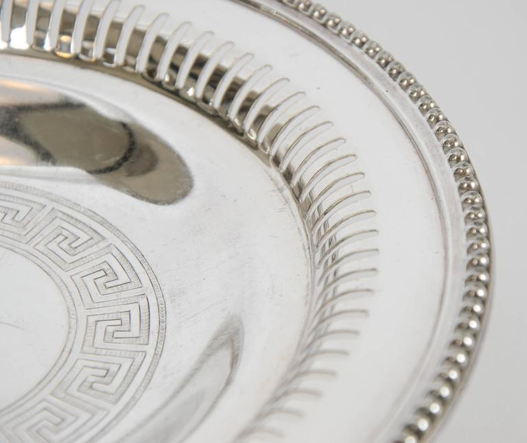 English Silver Plate Wine Coasters For Sale