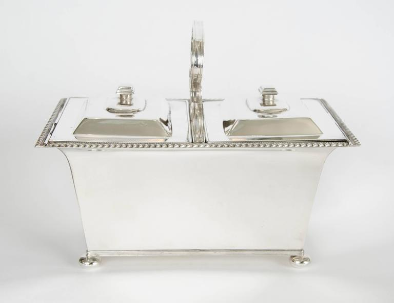 Other Silver Plate Double Tea Caddy C.1940