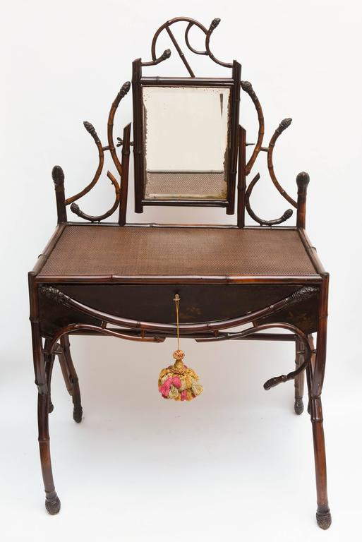 "Fine 19th Century Bamboo Vanity ""Estate of Lilly Pulitzer"" 6"