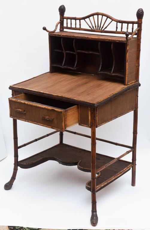 19th Century English Bamboo Desk For Sale 2