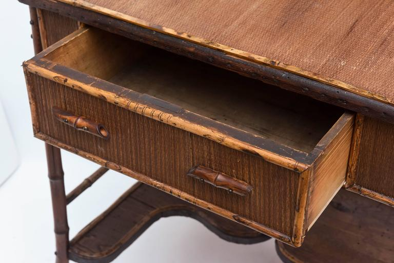 19th Century English Bamboo Desk For Sale 3